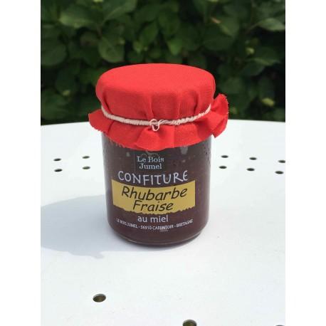 Confiture Rhubarbe Fraise au miel
