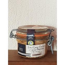 Foie gras entier de canard Breton à la Fine de Bretagne et sel de Guerrande 120g