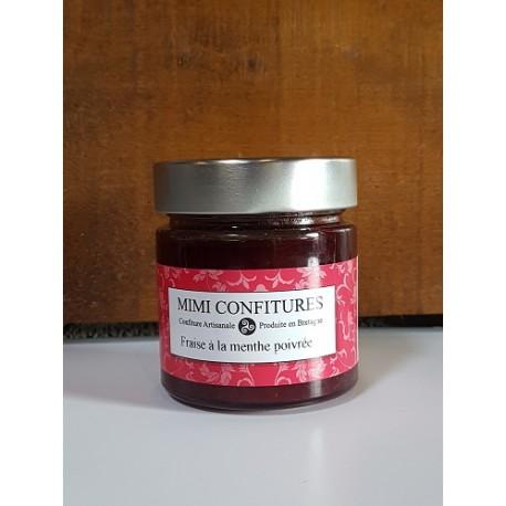 Mimi confitures fraise à la menthe poivrée 240g