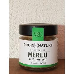 Rillettes de Merlu au poivre vert 100g