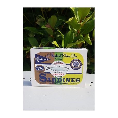 Sardine à l'huile d'Olive & au citron 115g
