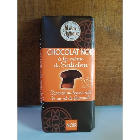 Tablette chocolat noir à la crème de Salidou 100g