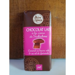 Tablette chocolat au lait à la crème de Salidou 100g
