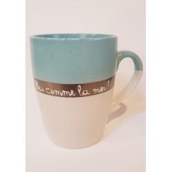 Mug bleu comme la mer